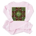 Celtic Dragon Labyrinth Toddler Pink Pajamas