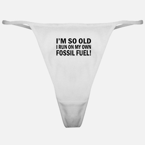 Old Age Humor Classic Thong