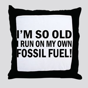 Old Age Humor Throw Pillow