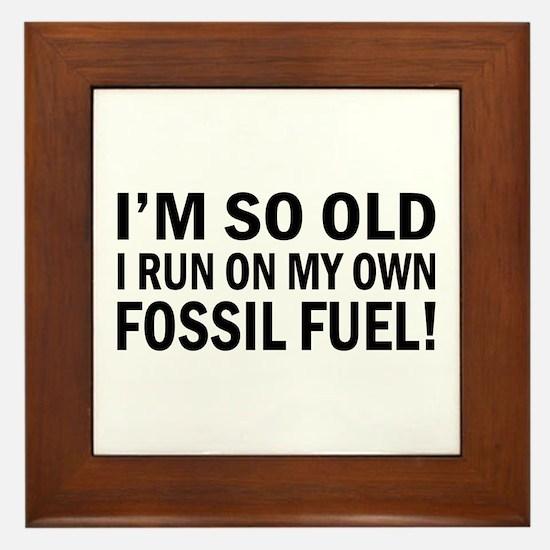 Old Age Humor Framed Tile