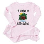 At The Cabin Toddler Pink Pajamas