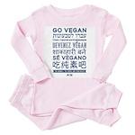 Toddler Go Vegan Pink Pajamas