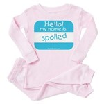 Hello my name is SPOILED Toddler Pink Pajamas