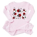 Cute Ladybug pattern Toddler Pink Pajamas
