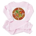 Celtic Autumn Leaves Toddler Pink Pajamas