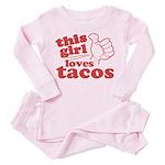 This Girl Loves Tacos Pink Pajamas