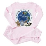 The Earth Is Our House Too Toddler Pink Pajamas