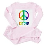 Shalom - Peace Sign Toddler Pink Pajamas