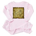 Celtic Letter R Toddler Pink Pajamas