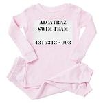 Alcatraz Swim Team Toddler Pink Pajamas