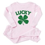 4 Leaf Lucky Toddler Pink Pajamas