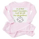 just ask grandma Toddler Pink Pajamas