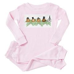 Snail Parade - Toddler Pink Pajamas