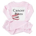Cancer Bites Toddler Pink Pajamas