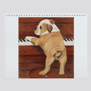 Piano Pup Wall Calendar