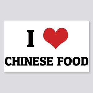 I Love Chinese Food Rectangle Sticker