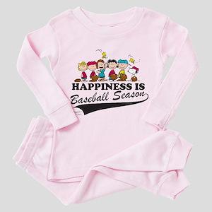 The Peanuts Gang Baseball Toddler Pink Pajamas