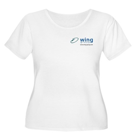 Wing Group Women's Plus Size T-Shirt (white)