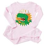 Dinosaur Roar Toddler Pink Pajamas