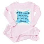 prefer mummys milk Toddler Pink Pajamas
