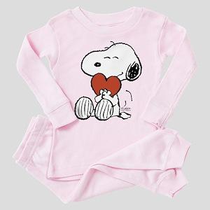 Snoopy Hugs Heart Toddler Pink Pajamas