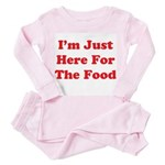 Here For The Food Toddler Pink Pajamas