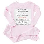 Multilingual Breastmilk Toddler Pink Pajamas