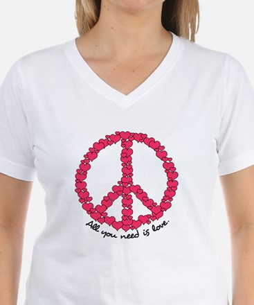 Hearts Peace Sign Shirt