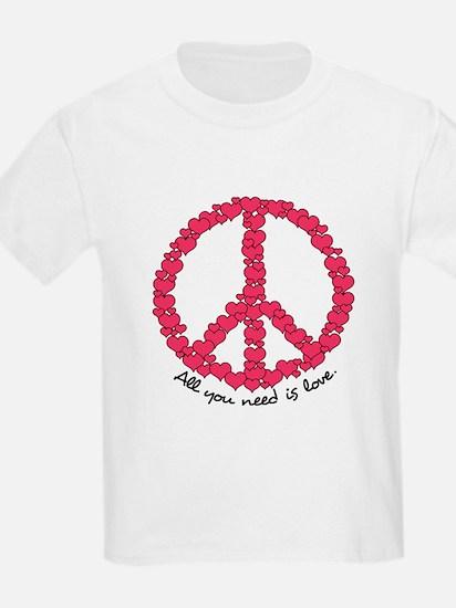 Hearts Peace Sign T-Shirt