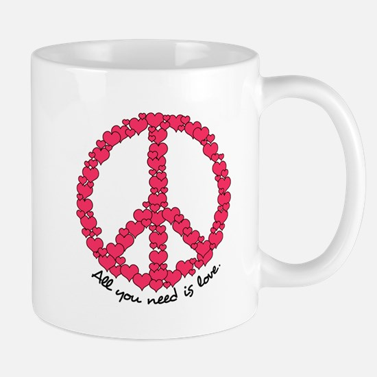 Hearts Peace Sign Mug
