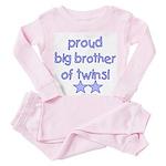 Big brother of twins Toddler Pink Pajamas