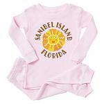 Sanibel Sun -  Toddler Pink Pajamas
