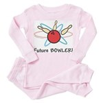 Future Bowler Toddler Pink Pajamas