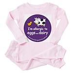 eggs and dairy Toddler Pink Pajamas