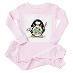 Artist penguin Toddler Pink Pajamas