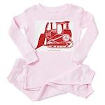 Bulldozer Toddler Pink Pajamas