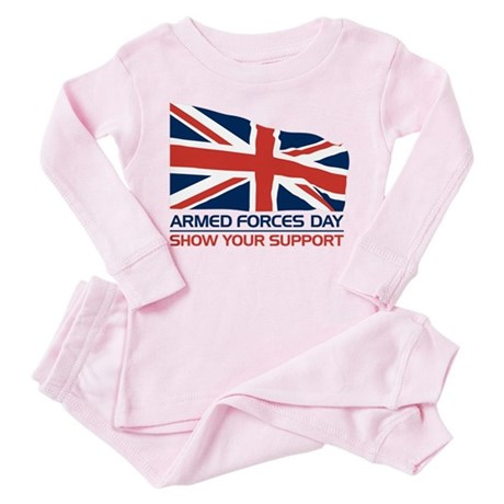 Armed Forces Day Toddler Pink Pajamas