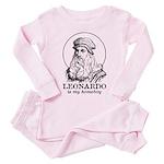 LEONARDO is My Homeboy Baby/Toddler Pink Pajamas