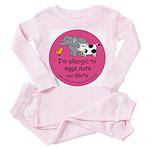 Eggs nuts & dairy-pink Toddler Pink Pajamas