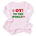 Oy To the World Toddler Pink Pajamas