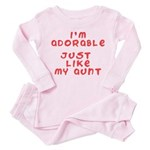 adorable baby like my aunt Toddler Pink Pajamas