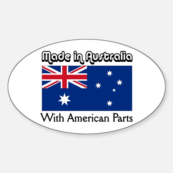 Made in Australia Oval Decal