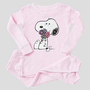 Springtime Snoopy Toddler Pink Pajamas