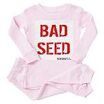 bad seed Toddler Pink Pajamas