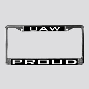 UAW Proud License Plate Frame