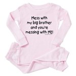 Mess with Big Bro Toddler Pink Pajamas