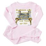 Psalms 119:1 Toddler Pink Pajamas