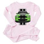New Mustang Green Toddler Pink Pajamas