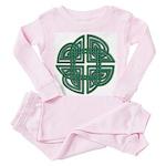Celtic Four Leaf Clover Toddler Pink Pajamas
