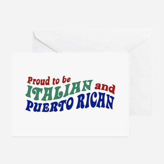 Proud Italian Puerto Rican Greeting Cards (Pk of 1